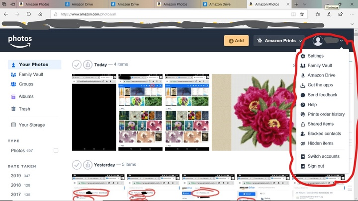 Amazon Photos Family Vault Albums